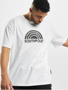 Southpole Tričká Logo  biela