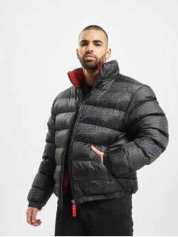 Southpole Winter Jacket Logo All Over Print black