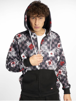 Southpole Zip Hoodie Floral Checker Fleece bunt