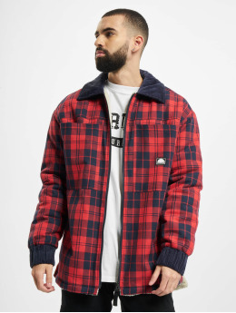 Southpole Zomerjas Check Flannel Sherpa rood