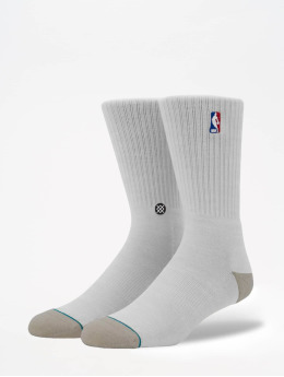 Stance Socken On Court Collection Logoman Crew weiß