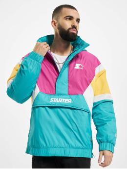 Starter Övergångsjackor Color Block Half Zip Retro turkos