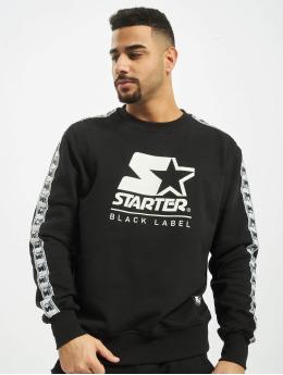 Starter Pullover Logo Taped schwarz