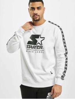 Starter Pullover Logo Taped weiß
