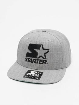 Starter Snapback Cap Logo grau