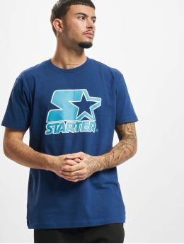 Starter T-shirt Contrast Logo Jersey blå