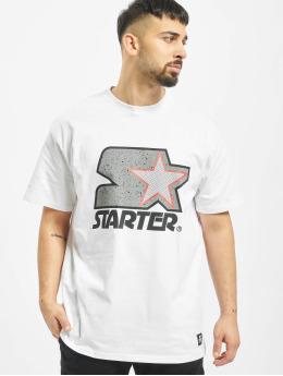 Starter T-Shirt Multicolored Logo blanc
