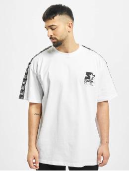 Starter T-Shirt Logo Taped blanc