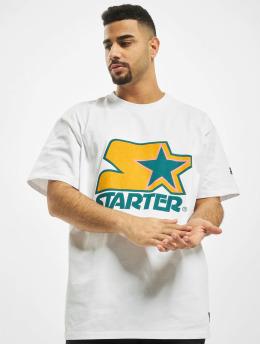 Starter T-shirts Colored Logo hvid