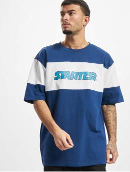 Starter T-Shirty Block Jersey niebieski