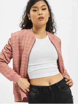 Stitch & Soul Bomber jacket Embossing  rose