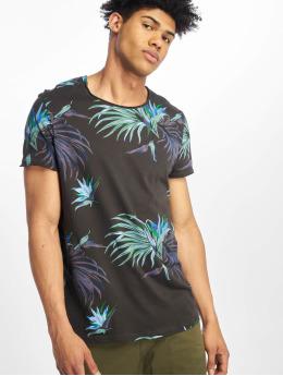 Stitch & Soul Camiseta Floral gris
