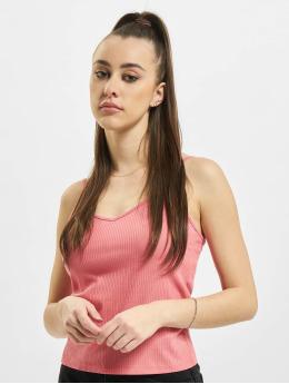 Stitch & Soul Hihattomat paidat Cropped Rib vaaleanpunainen