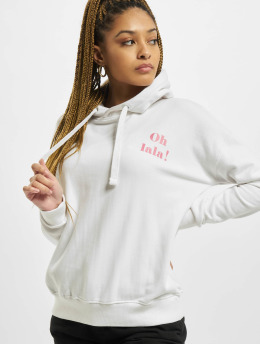 Stitch & Soul Hoodie Letter  white