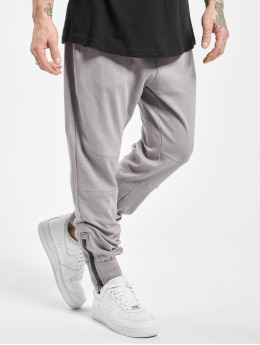 Stitch & Soul Jogginghose Ribbed Knee grau