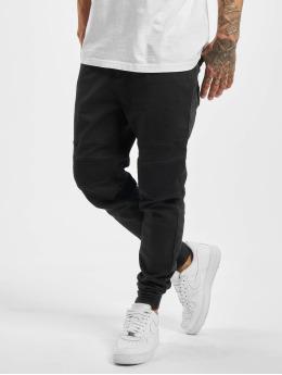 Stitch & Soul Látkové kalhoty Panel čern