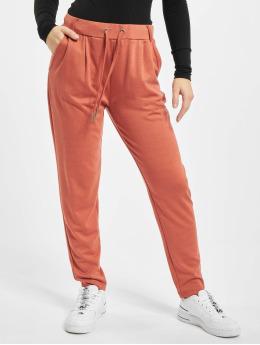 Stitch & Soul Látkové kalhoty Leni  červený