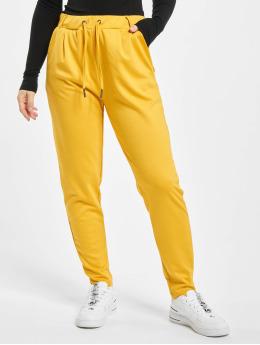Stitch & Soul Látkové kalhoty Leni  žlutý
