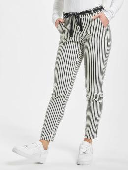 Stitch & Soul Látkové kalhoty Pinstripe bílý