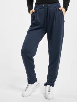 Stitch & Soul Látkové kalhoty Leni  modrý