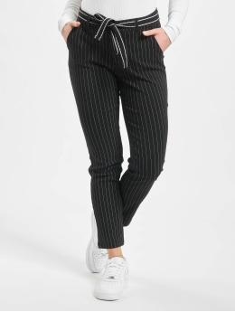 Stitch & Soul Pantalon chino Pinstripe  noir