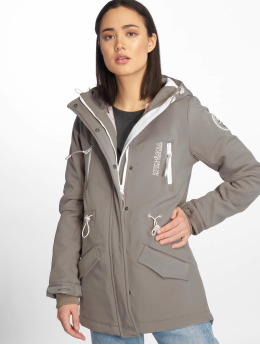 Stitch & Soul Parka Softshell gray