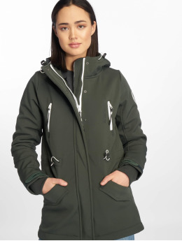 Stitch & Soul Parka Softshell green