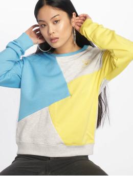Stitch & Soul Pullover Diagonal blau