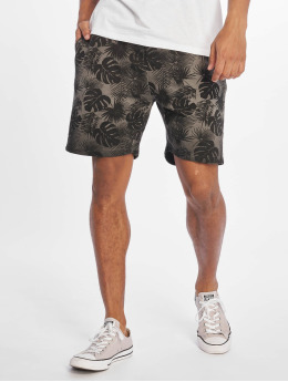 Stitch & Soul shorts Plants grijs