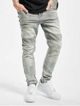 Stitch & Soul Slim Fit -farkut Acid Washed  harmaa