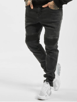 Stitch & Soul Slim Fit Jeans Elastic Knee  zwart