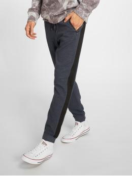 Stitch & Soul Spodnie do joggingu Ribbed niebieski