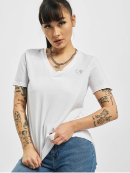 Stitch & Soul T-paidat  Heart Organic Cotton valkoinen