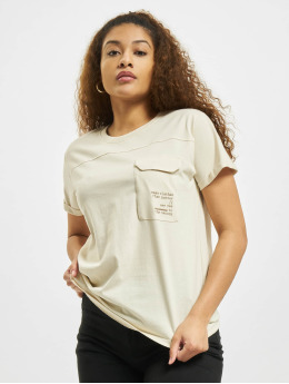 Stitch & Soul T-Shirt Pocket  beige