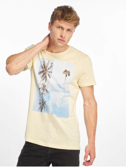 Stitch & Soul t-shirt Palm Springs geel