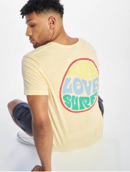 Stitch & Soul t-shirt Surf  geel