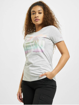 Stitch & Soul T-Shirt Beach  gris