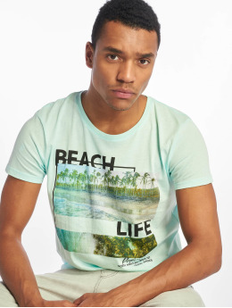 Stitch & Soul T-shirts Beach Life turkis
