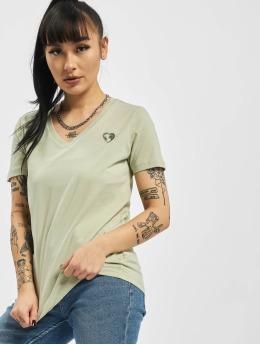 Stitch & Soul T-Shirty  Heart Organic Cotton zielony