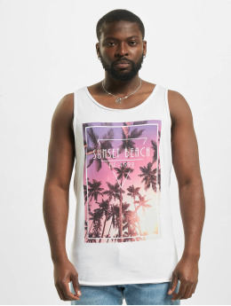 Stitch & Soul Tank Tops Sunset Beach weiß