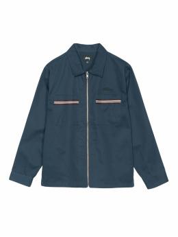 Stüssy Koszule Full Zip Work niebieski