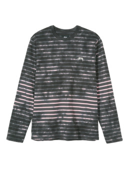 Stüssy Longsleeve Bleach Stripe grau