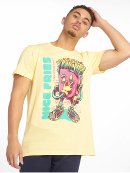 Sublevel Camiseta Roundneck amarillo