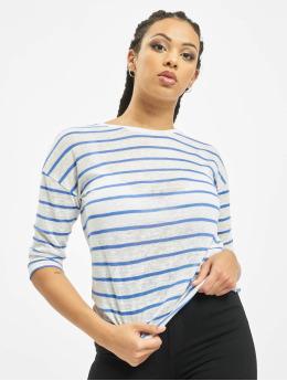 Sublevel Camiseta de manga larga Stripe blanco