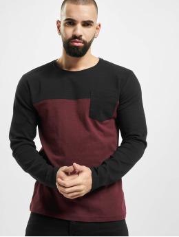 Sublevel Camiseta de manga larga Pocket  rojo