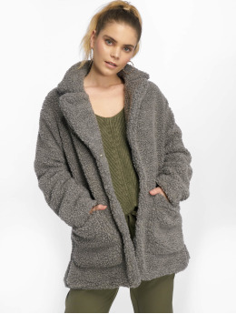 Sublevel Frauen Mantel Fake Sherpa in grau