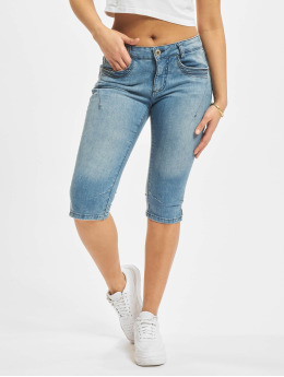 Sublevel Short Denim Capri blue