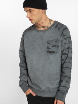 Sublevel Sweat & Pull Camo Raglan  bleu