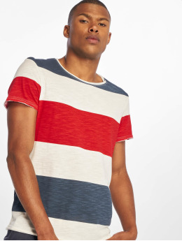 Sublevel T-shirt Stripes  bianco