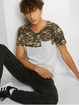 Sublevel T-Shirt Camo grau